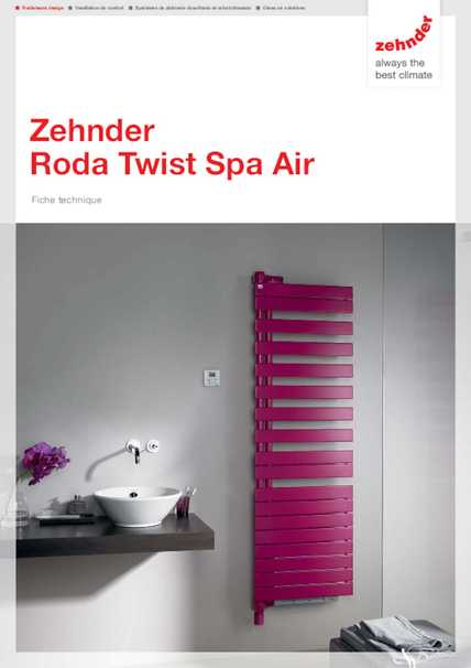zehnder roda twist spa air zehnder belgique. Black Bedroom Furniture Sets. Home Design Ideas